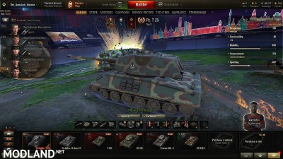 M4 improved hull on T-25 ( premium ) with VK45.03 turret and gun. 5 [1.0.2.2], 1 photo